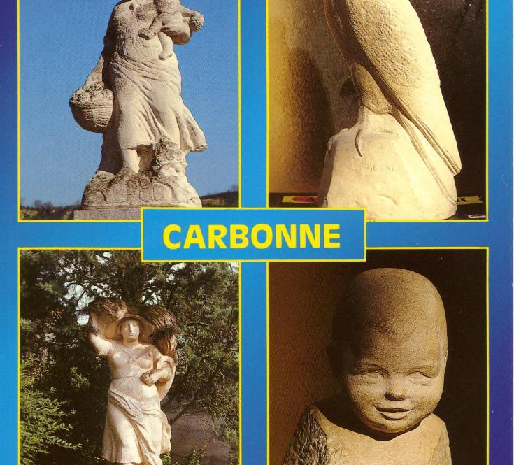 Oeuvres du sculpteur André Abbal (carte postale)