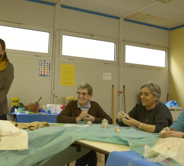 Yo-Yo Gonthier, Les Vivants 2, ateliers avec L'EVS La Parenthèse à Lafitte Vigordanne
