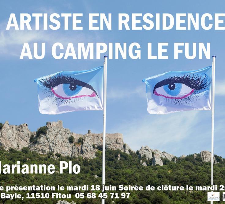 Résdence d'artiste au camping Le Fun à Leucate
