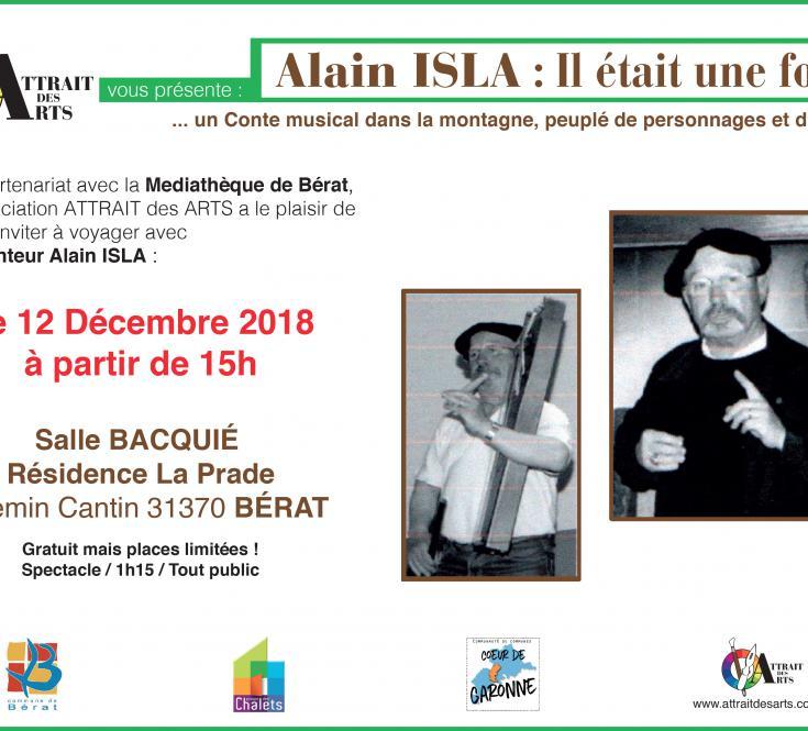Spectacle du Conteur Alain ISLA - 2018