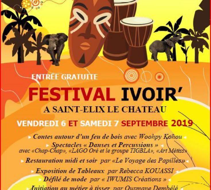 FESTIVAL IVOIR' - 6 & 7 septembre 2019 à St Elix le Château (31430) - Entrée libre