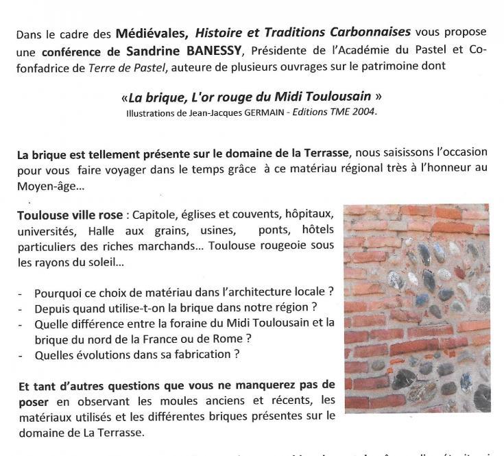 La Brique Toulousaine - Médiévales 2016