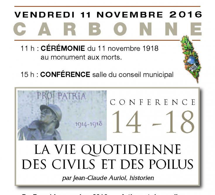Conférence de Jean-Claude AURIOL Nov. 2016