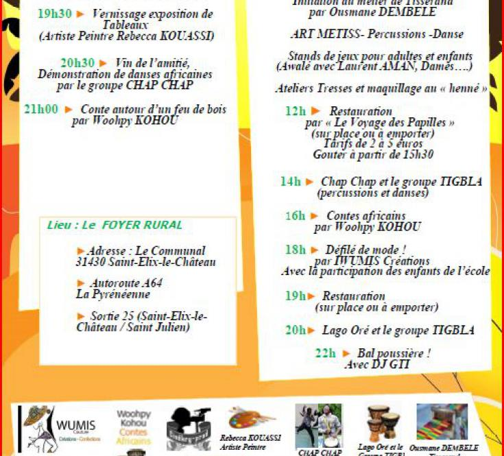 PROGRAMME 2ème Festival Ivoir' des 6 et 7/09/2019 à St Elix le Château (31430)