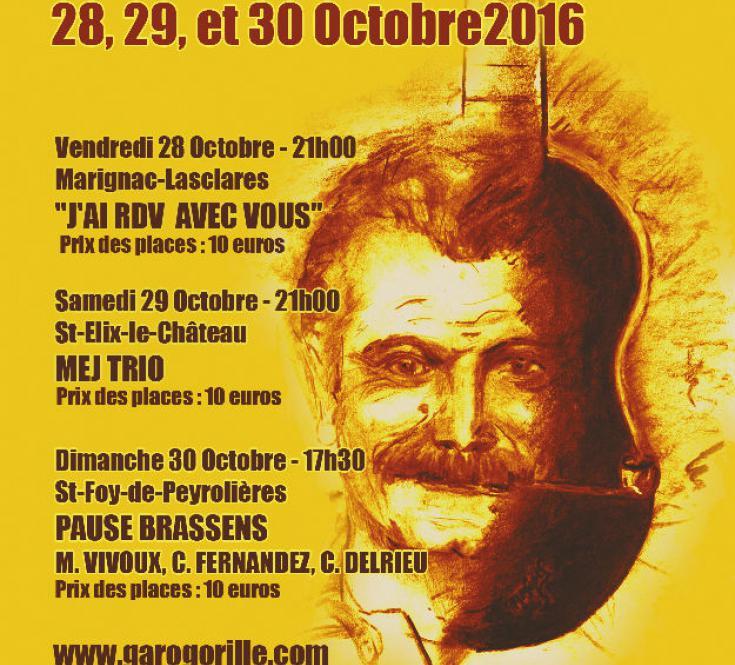 Affiche édition 2016 du Festival Gar Ô Gorille