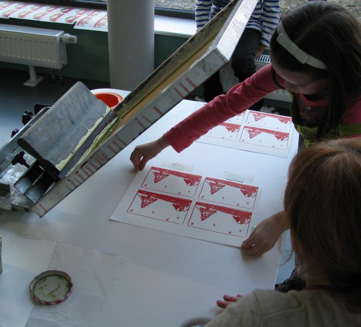 Atelier de sérigraphie - Décembre 2016