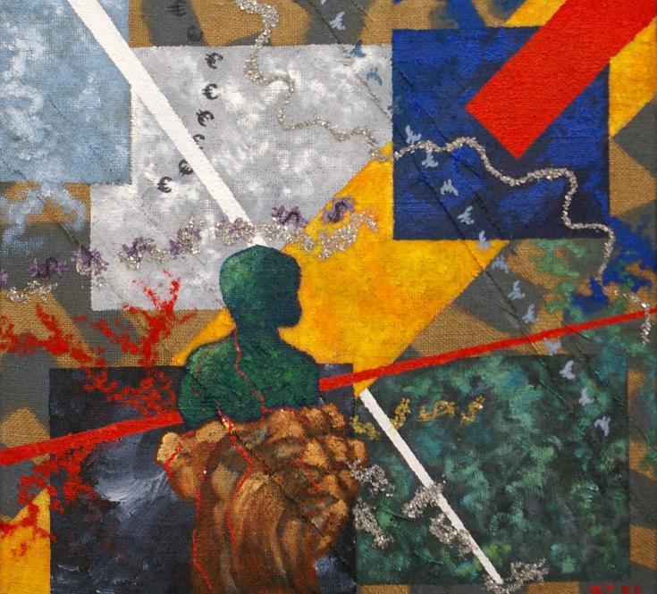 *La main tendue* réalisé pour le salon d'art contemporain de Naples, l'art et l'argent