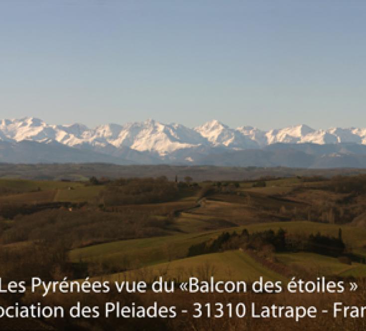 Chaîne des Pyrénées depuis le Balcon des Etoiles