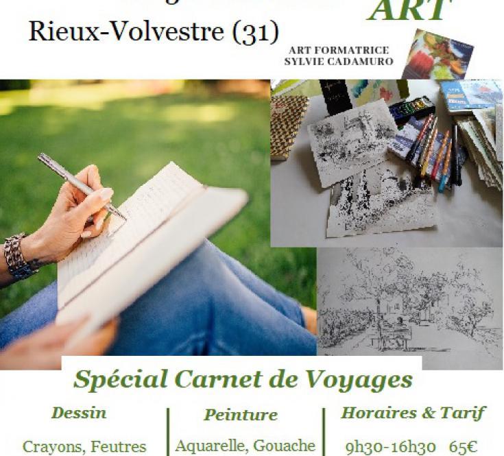 Stage Dessin le Carnet de Voyages:Art Vacances pour l'Art Rentrée détente.